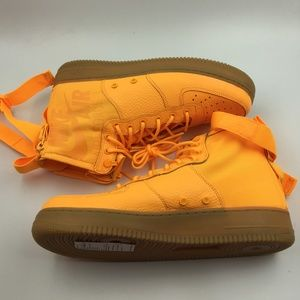 Nike Shoes - Nike Orange Laser OBJ SF Air Force 1 Mid G0811659